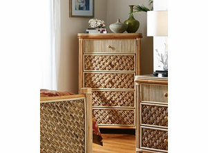 Palm Bay Rattan Five Drawer Chest