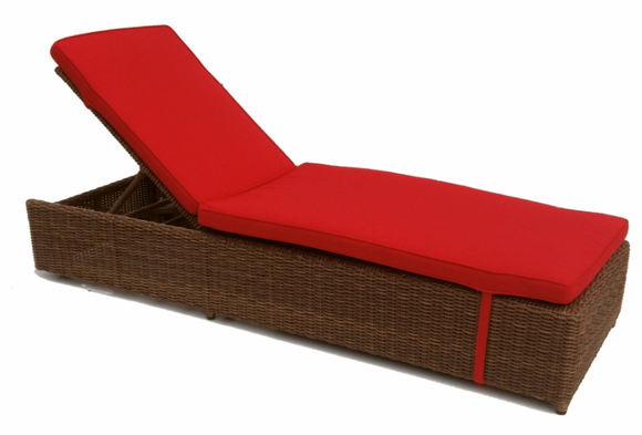 Patio Wicker Chaise: Adjustable With Wheels