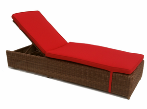 Outdoor Wicker Chaise: Adjustable With Wheels