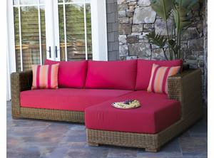 Patio Wicker Chaise Sectional - Santa Barbara