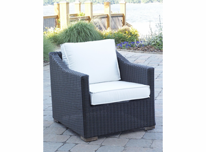 Patio Wicker Outdoor Chair Portofino: Black Forest
