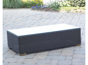Patio Wicker Outdoor Coffee Table : Black Forest