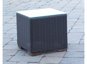 Patio Wicker Outdoor End Table Portofino - Black Forest