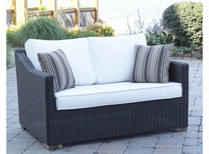 Patio Wicker Outdoor Loveseat Portofino - Black Forest