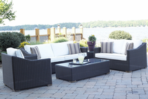 Patio Wicker Outdoor Portofino Collection: Black Forest