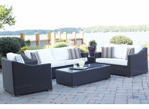 Patio Wicker Outdoor Riviera Collection: Black Forest