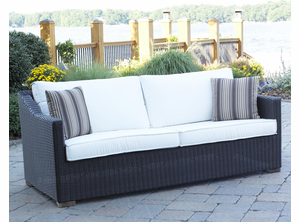 Patio Wicker Outdoor Sofa Portofino - Black Forest