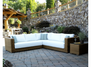 Patio Wicker Sectional - Santa Barbara
