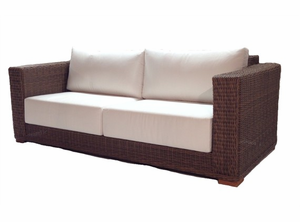 Patio Wicker Sofa - Santa Barbara