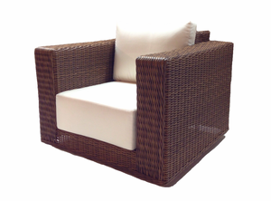 Patio Wicker Swivel Chair - Santa Barbara