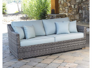 Portofino Outdoor Wicker Loveseat Greystone Finish