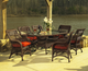 Princeton Outdoor Resin Wicker Oval Dining Set Of  7