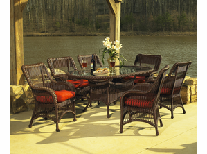 Princeton Outdoor Resin Wicker Oval Dining Set Of  5