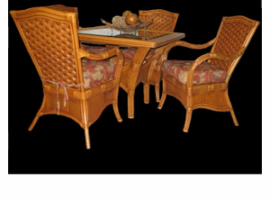 Rattan Dining Set of 5 - Bombay