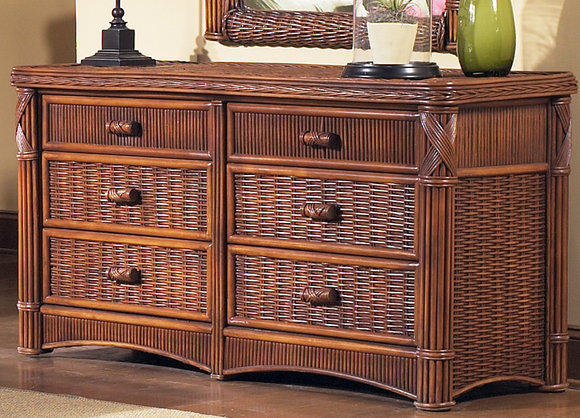 Rattan Double Dresser Barbados Wicker Paradise