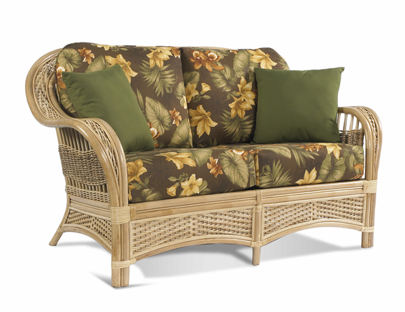 Rattan Loveseat: Tropical Breeze Collection