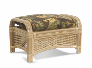 Rattan Ottoman | Tropical Breeze
