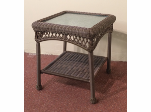 Resin Wicker End Table