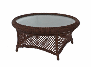 Round Wicker Coffee Table: Savannah Collection