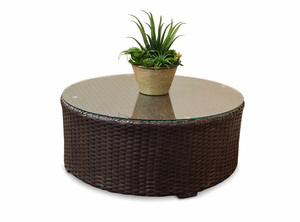 Sonoma Outdoor Wicker Round Coffee Table