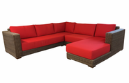 Santa Barbara Outdoor Wicker Sectional With Chaise