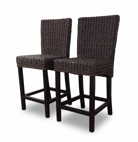 Seagrass Bar Stool Set of 2 - Barbados