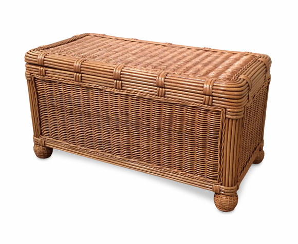 Brown Small Wicker Trunk Savannah Wicker Paradise