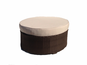 Sonoma Outdoor Wicker Ottoman Round