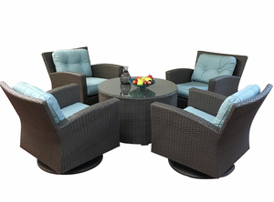 Sonoma Outdoor Wicker  Swivel Conversation Group