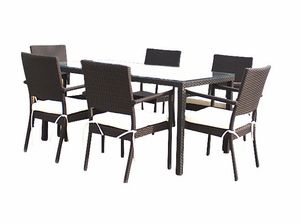 South Hampton Patio Wicker Dining Set