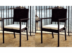 South Hampton Resin Wicker Dining Chairs - Set of 2