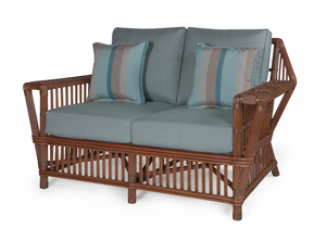 The Lodge Rattan Loveseat
