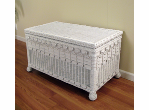 Victorian Large Wicker Trunk