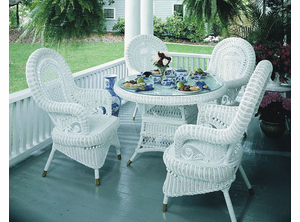 Victorian Wicker Dining Set of 5