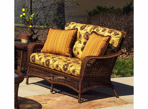 Vinyl Wicker Loveseat: Savannah Collection