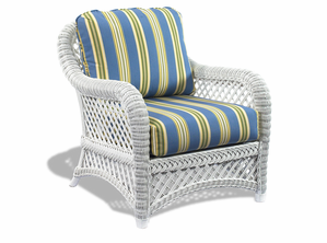 White Wicker Chair - Lanai