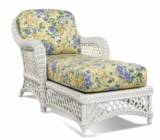 White Wicker Chaise Lanai Wicker Paradise