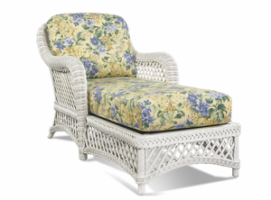 White Wicker Chaise - Lanai