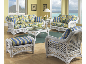 White Wicker Furniture | Lanai Set of 5