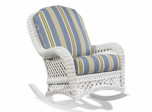 White Wicker Rocker - Lanai