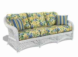 White Wicker Sofa - Lanai