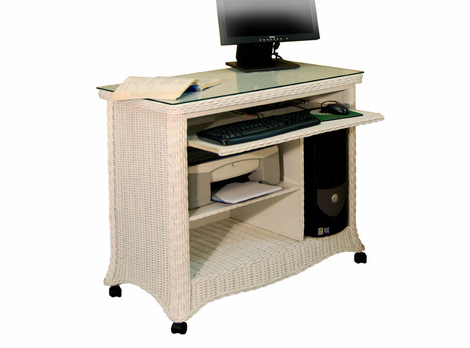 Wicker Computer Workstation
