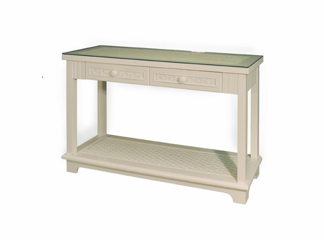 Wicker Cottage Console Table