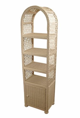 Wicker Etagere with Door