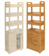 Wicker Etagere with Doors