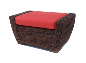 Wicker Ottoman - Galveston