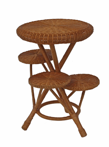 Wicker Plant Stand - 4 Tier