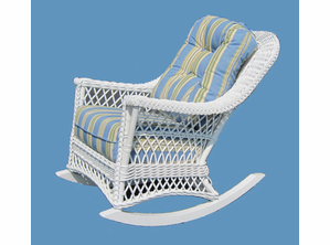 Wicker Rocker - Vineyard