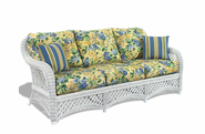 Wicker Sofa - Lanai White