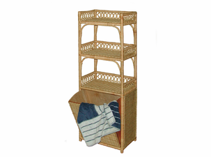 Wicker Storage unit with pull out wicker
